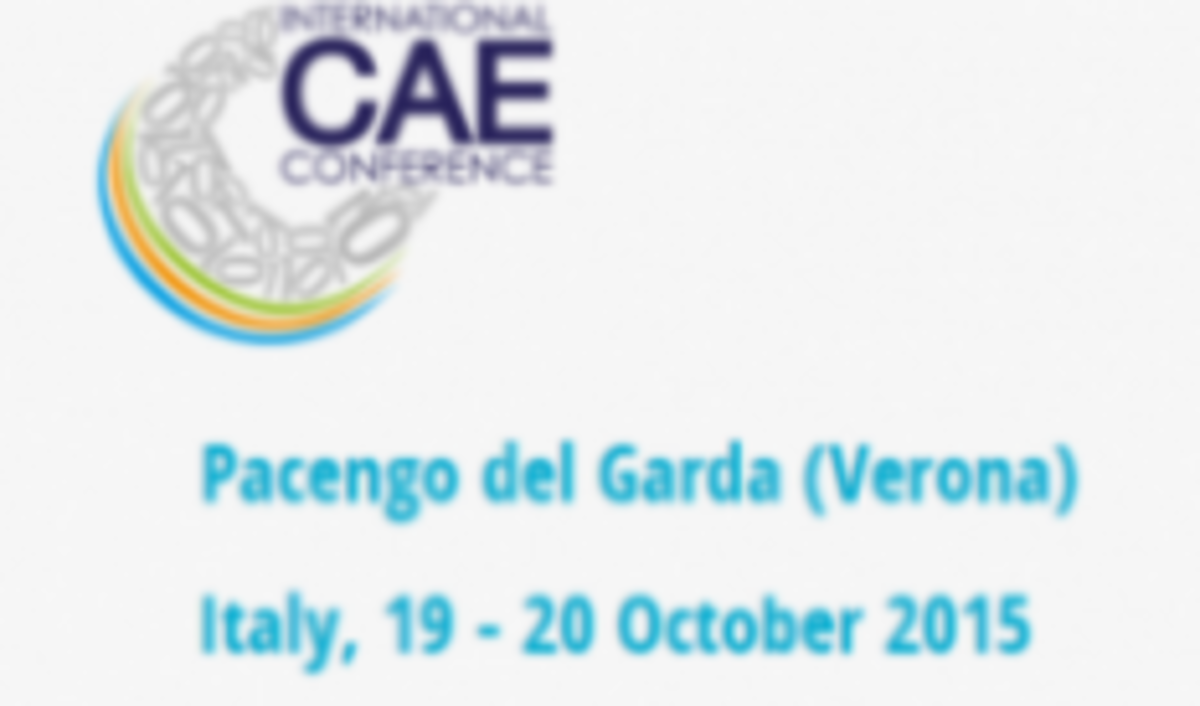 European Research and Innovation at International CAE Conference 2015, Pacengo del Garda (Verona) 19 – 20 October 2015